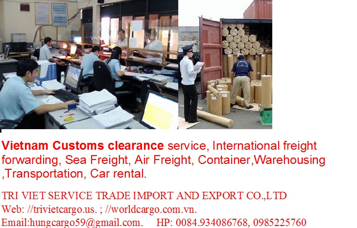 Vietnam Customs clearance service, International freight forwarding, Sea Freight, Air Freight, Container,Warehousing ,Transportation, Car rental
