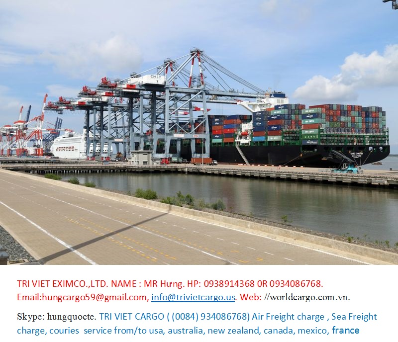 TRI VIET SERVICE TRADE IMPORT AND EXPORT CO.,LTD Web: //trivietcargo.us. ; //worldcargo.com.vn. Email:hungcargo59@gmail.com.     HP: 0084.934086768, 0985225760 skype: hungquocte